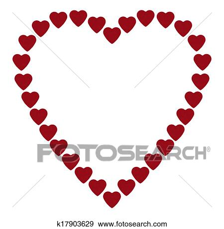 Stock Illustration of Frame heart-shaped k17903629 - Search Vector ...