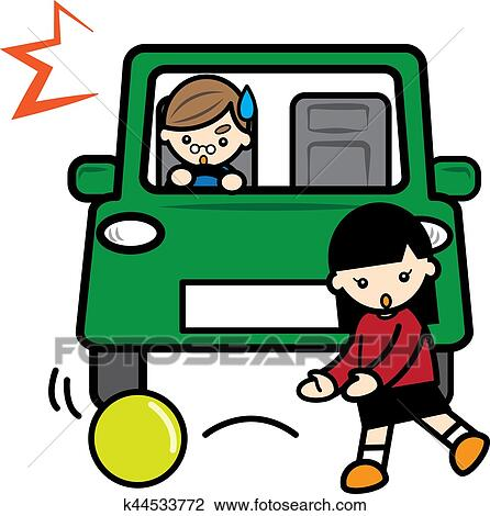 clip art of traffic accident k44533772 search clipart rh fotosearch com traffic clipart black and white traffic clip art images free