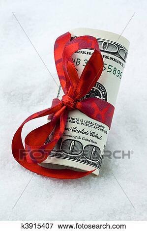 Bild Usa Dollar Banknoten Als Geldgeschenke Mit Schleife