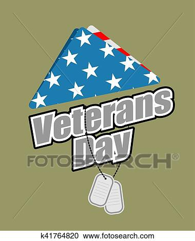 Clipart Of Veterans Day Usa Flag Symbol Of Mourning And Grief For