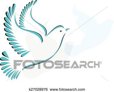 Clip Art Colomba O Uccello Stilizzato K27028976 Cerca Clipart