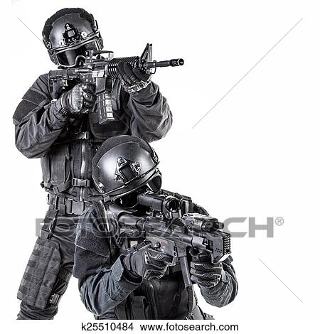 Stock Photo of Spec ops police officer SWAT k25510484 - Search Stock ...