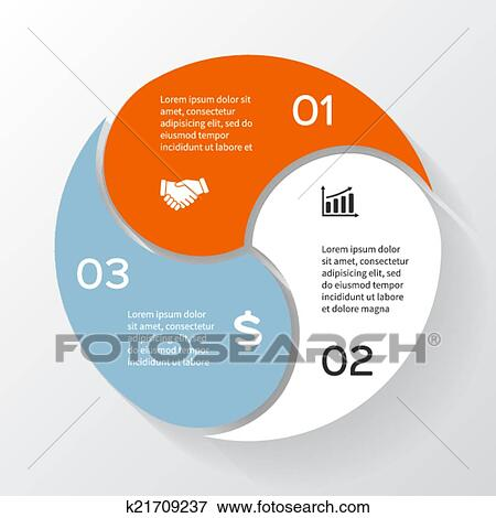 clip art of vector circle infographic template for diagram graph