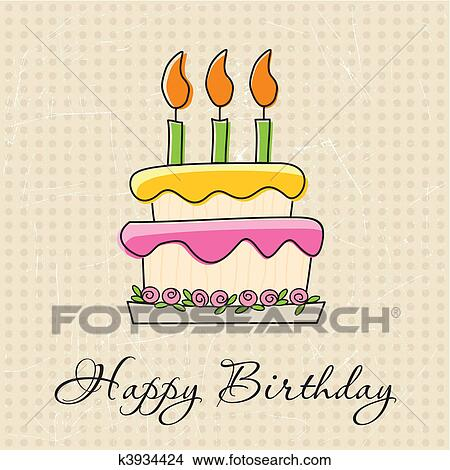 Clipart Of Birthday Greeting Card K3934424