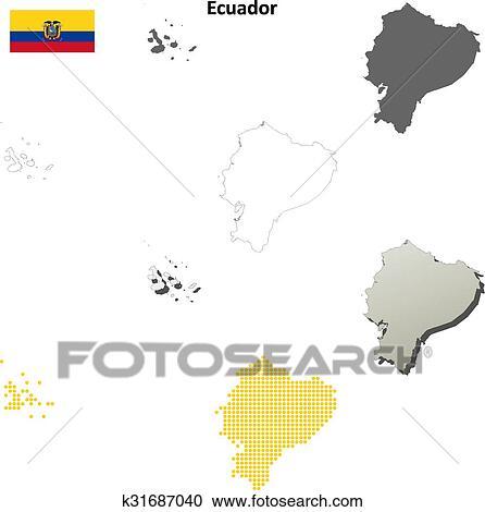 Clipart of ecuador outline map set k31687040 search clip art clipart ecuador outline map set fotosearch search clip art illustration murals publicscrutiny Choice Image