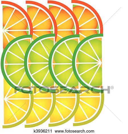 Sagoma Di Affettato Pompelmo Limone Calce E Arancia 1