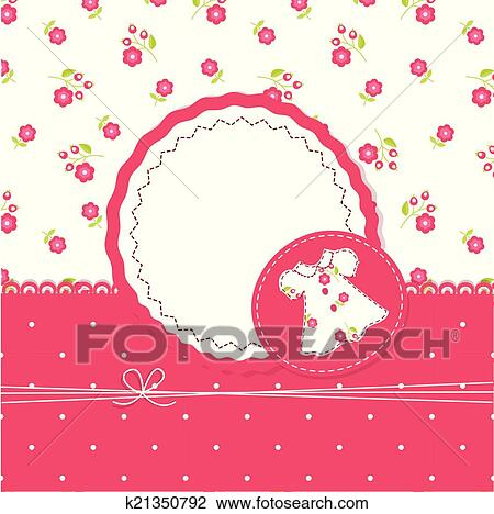 clipart of baby girl background with dress k21350792 search clip