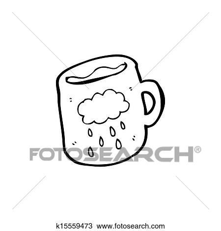Cartoon Cloud Pattern Coffee Mug Drawing K15559473 Fotosearch