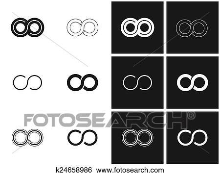 Clip Art Of Infinity Symbols In Set K24658986 Search Clipart