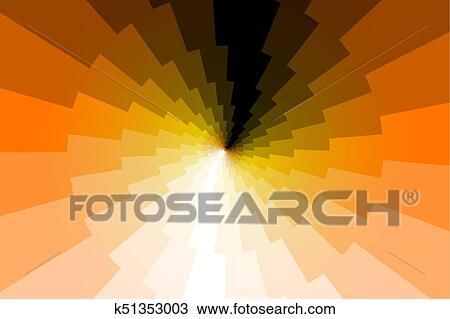 Lightning Bolt Abstract Geometric Vector Pattern Golden Thunder Background