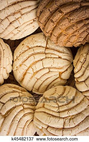 Picture Of Mexican Conchas Sweet Bread K45482137 Search Stock
