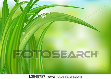 Sfondo Verde Con Erba Clip Art K3949787 Fotosearch