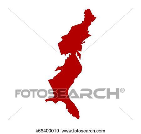 USA east coast Stock Illustration | k66400019 | Fotosearch