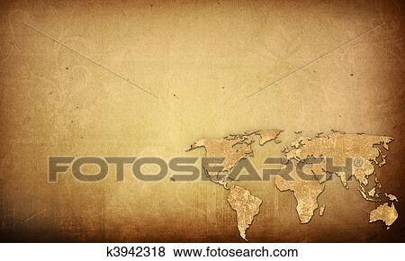 Stock illustration of world map vintage artwork perfect background stock illustration world map vintage artwork perfect background with space for text or image gumiabroncs Gallery