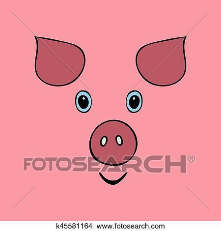 Clipart cochon mignon rigolote dessin anim t te - Dessin cochon mignon ...