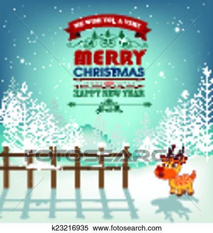 Gelukkig Nieuwjaar En Zalige Kerst Clipart K23216935 Fotosearch