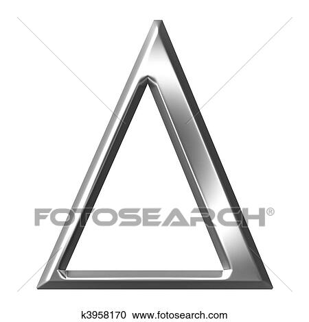 greek letter delta stock illustrations of 3d silver letter delta 49204