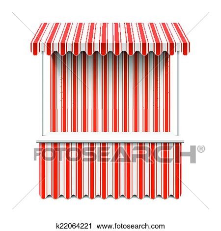 Clipart Of Market Stall K22064221 Search Clip Art