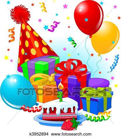 Amato Regali compleanno, e, decorazione Clipart | k3952894 | Fotosearch PX92
