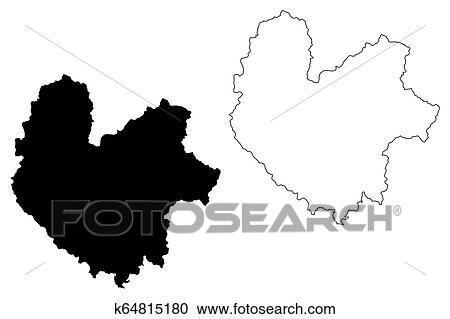 Thai Nguyen Province map vector Clipart