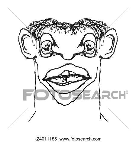Caricature Homme banque d'illustrations - étrange, caricature, homme k24011185