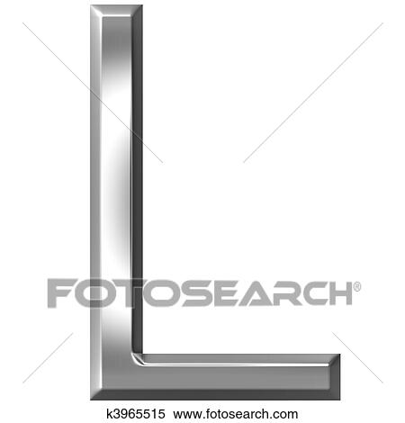 Stock Illustration Of 3d Silver Letter L K3965515 Search Clipart