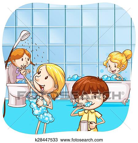 Clipart - badezimmer k28447533 - Suche Clip Art, Illustration ...