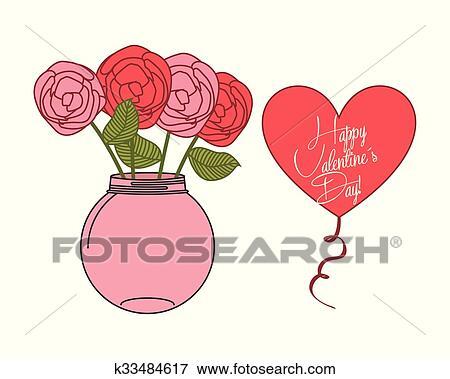 Feliz Dia Dos Namorados Desenho Clipart K33484617 Fotosearch