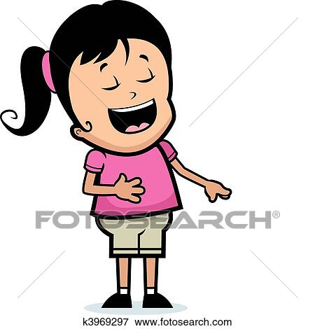clip art of girl laughing k3969297 search clipart illustration rh fotosearch com clip art laughing cartoon characters clip art laughing face