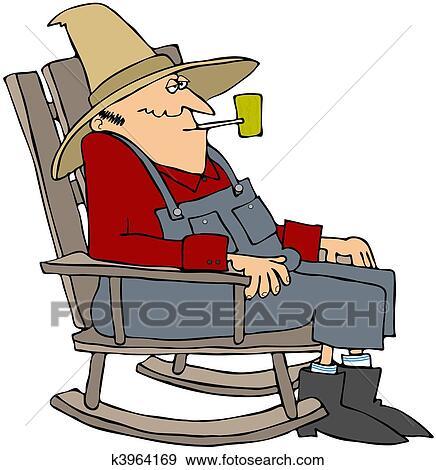 Stock illustration alter mann in a schaukelstuhl for Alter mann im schaukelstuhl