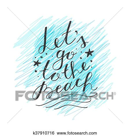 Lets go to the beach Clip Art | k37910716 | Fotosearch