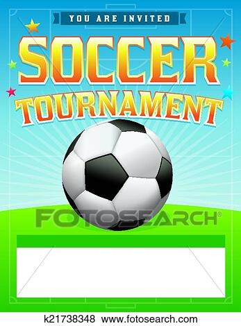 A Soccer Tournament Illustration Vector EPS 10 Available File Contains Transparencies And Gradient Mesh Room For Copy Fonts Have Been Converted To