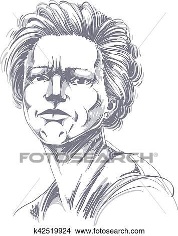 Clipart Vettore Disegno Di Donna Arrabbiata Con Elegante