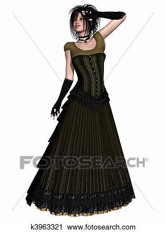 10b90af740 Clip Art - Victorian clothes . Fotosearch