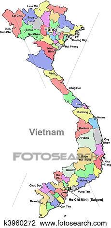Vietnam map Clipart