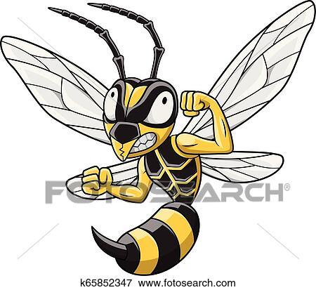 Cartoon Hornet Mascot Clip Art K65852347 Fotosearch