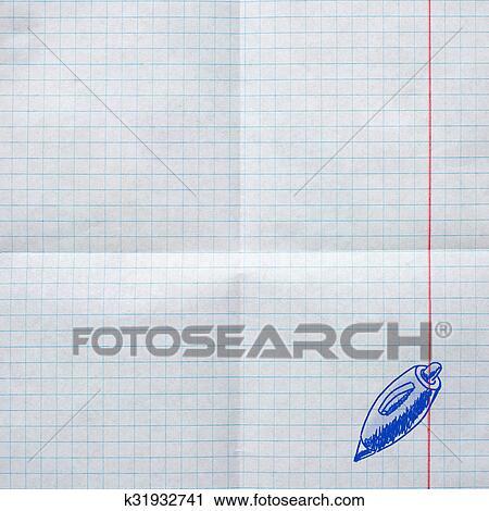 Dibujos Con Cuadros.Escuela Dibujos En A Cuadros Papel Clip Art K31932741 Fotosearch