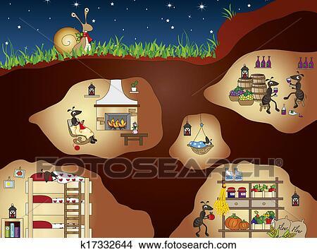 Dibujos hormigas k17332644 buscar clip art ilustraciones de murales imagenes y vectores - Casa de hormigas ...