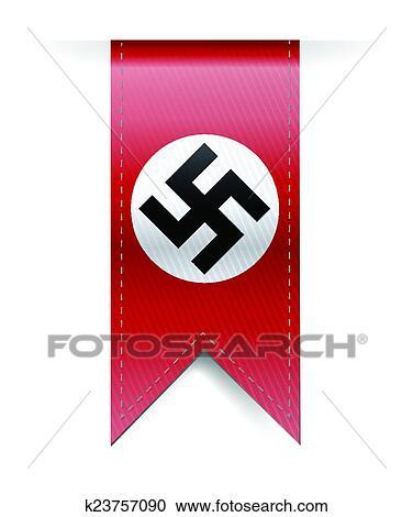 Nazi German Swastika Hanging Banner Clipart K23757090