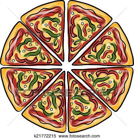Clipart Pezzi Di Pizza Schizzo Per Tuo Disegno K21772215