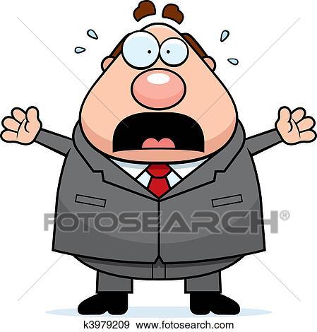clip art of scared boss k3979209 search clipart illustration rh fotosearch com