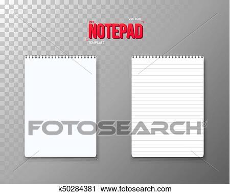 clipart of vector notepad set realistic vector empty notepad