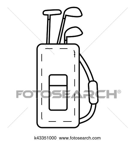 Clipart of Bag for golf clubs icon, outline style k43351000 - Search on cartoon pool bag, cartoon wine bag, cartoon nut sack, cartoon hat, cartoon school bag, cartoon camera, cartoon baseball bag, cartoon tennis bag, cartoon men, cartoon golfer, cartoon bowling bag, cartoon beach bag, cartoon shorts, cartoon star, cartoon traveling bag, cartoon gloves, cartoon butterfly, cartoon putter, cartoon clubs, cartoon mother,