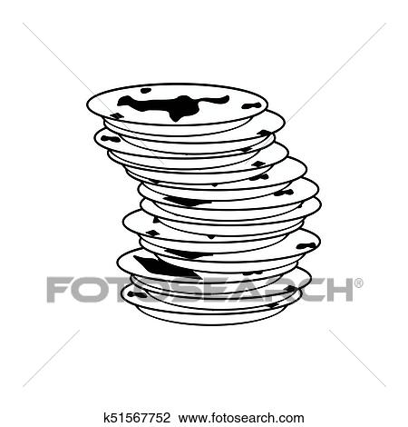 clipart of dirty dishes icon dirty dish sign vector illustration rh fotosearch com dirty dishes clip art image washing dirty dishes clipart