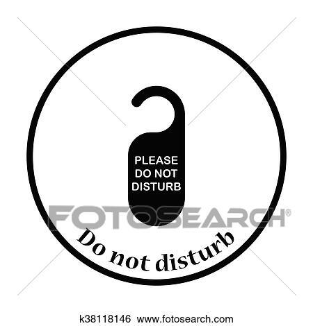 clip art of don t disturb tag icon k38118146 search clipart rh fotosearch com do not disturb clipart free Do Not Disturb Sign