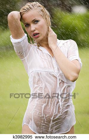 stock image of wet dress woman k3982995 search stock photos mural