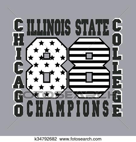 144769ee chicago typography, graphics t-shirt, printing design, illinois original  wear, vintage fashion