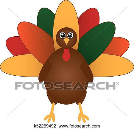 clipart of turkey with colorful feathers k52269492 search clip art