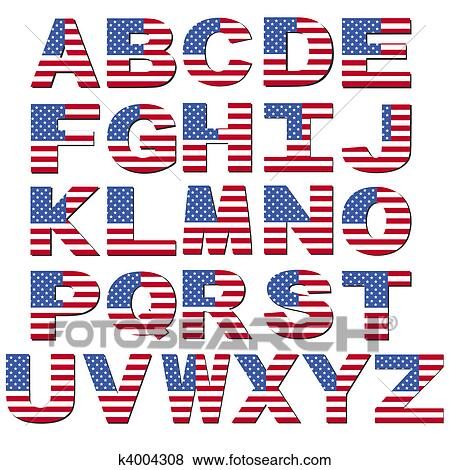 アメリカの旗 壷 イラスト K4004308 Fotosearch