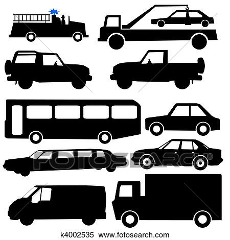 分類される 車 シルエット イラスト K4002535 Fotosearch